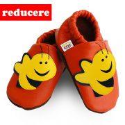 papucei piele copii Orange Bee