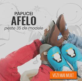 papucei piele pentru copii Afelo
