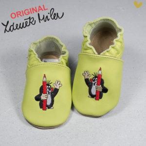 papuci piele bebe