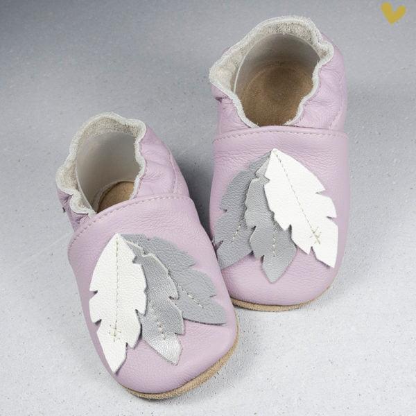 papuci piele copii de interior