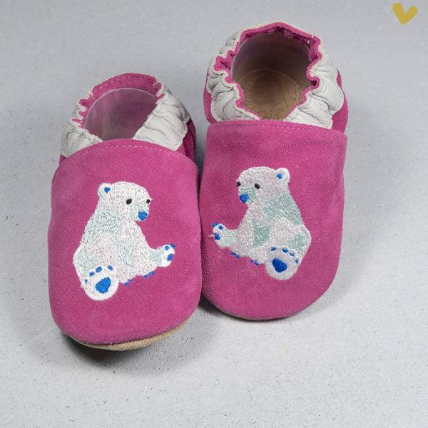 papucei piele copii