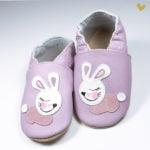 papucei piele primii pasi cu talpa cauciuc