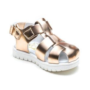 sandale flexibile aurii