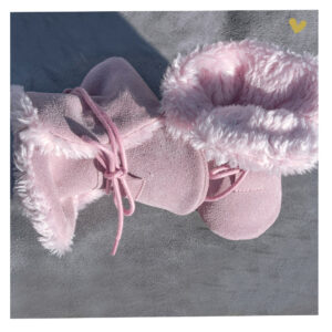 papucei piele cu blana