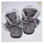 papucei piele cu blaan nou nascuti
