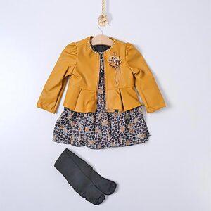 set cadou jacheta cu rochita fete